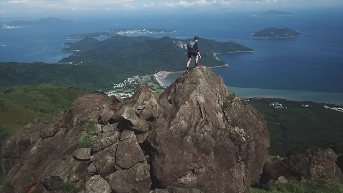 video cover hiker on mountain