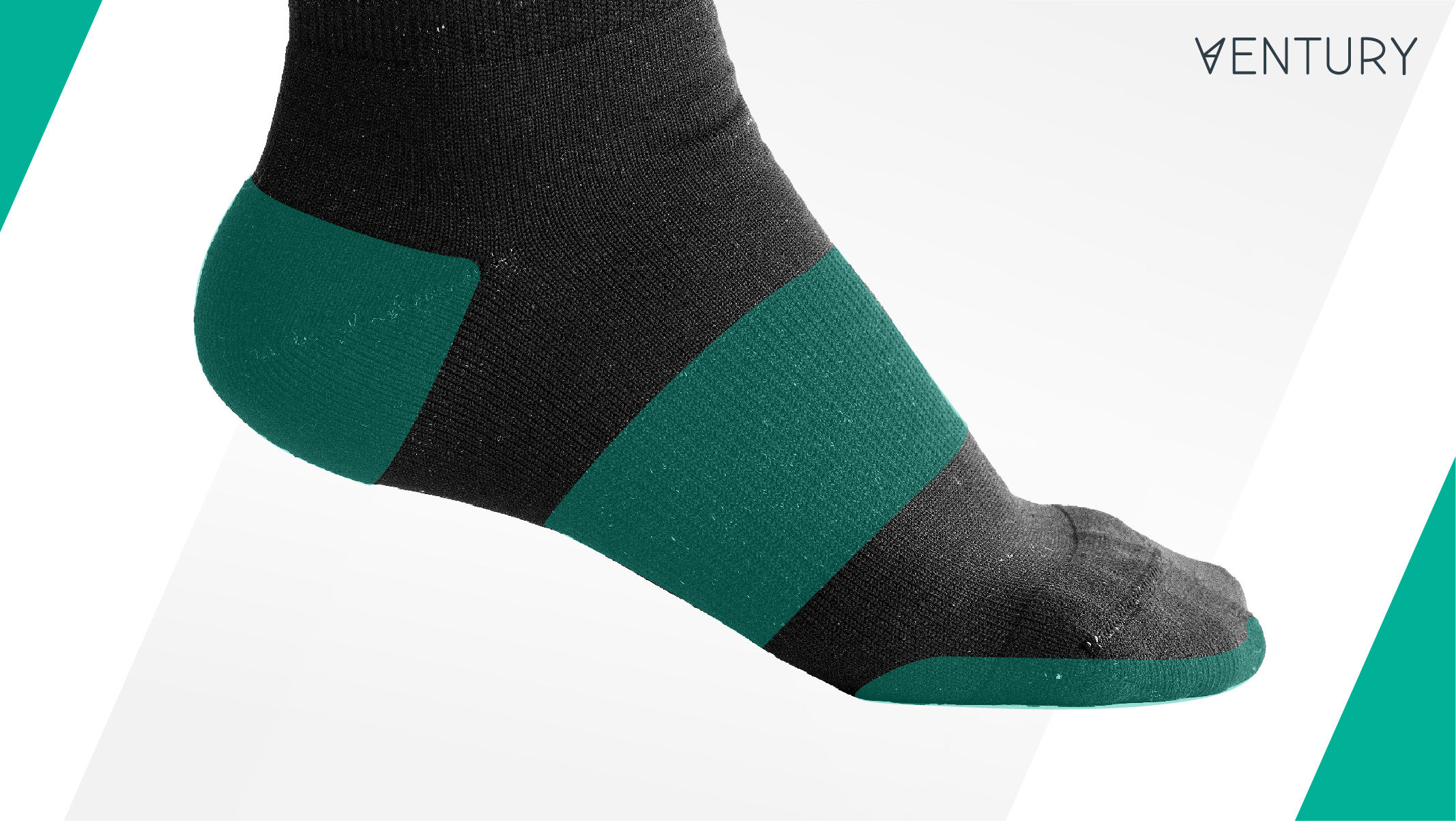 Support areas in Silverlight hiking socks