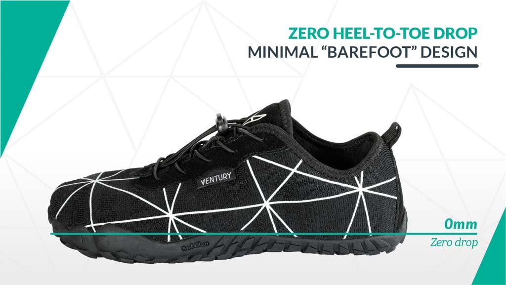 Zero heel to drop