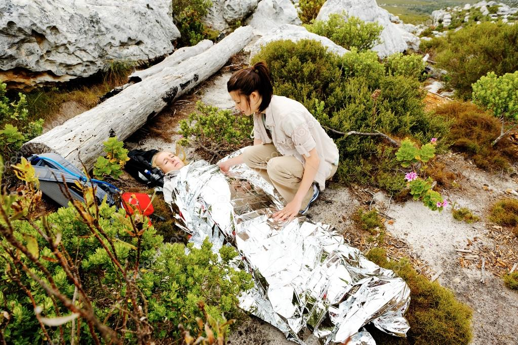 emergency blanket for wilderness first aid