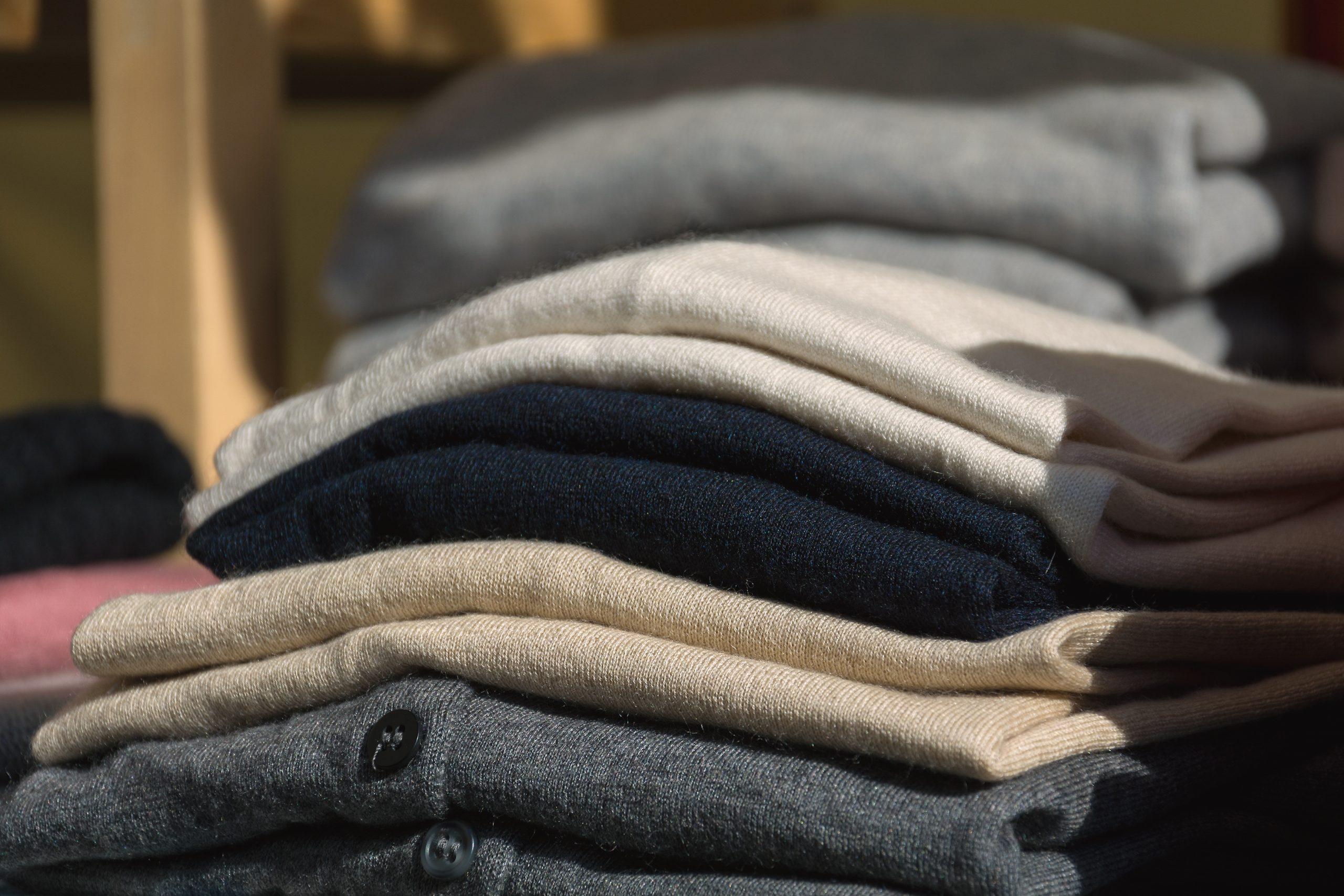 luxury wool sweaters in shop